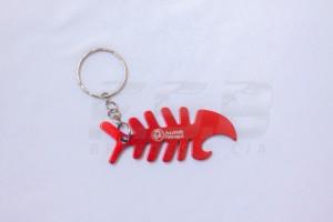 Chaveiro Aluminio Espinha de Peixe Personalizado
