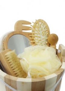 Kit para banho, material de madeira ecológica.