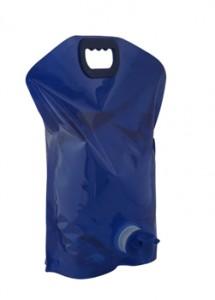 Galão Dobrável de 3 litros, feito de plástico resistente, com torneira, nas cores rosa, azul e branco.