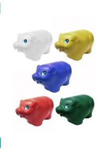 Cofre de plástico no formato  porquinho