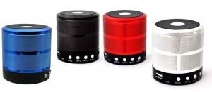 Caixa de Som Bluetooth detalhe circular prata no centro