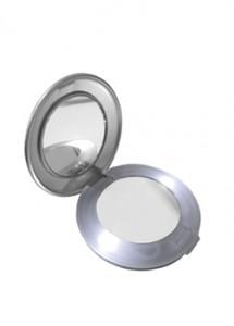 Espelho de bolso duplo com luz, material plástico resistente