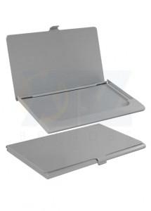 Porta cartão de alumínio na cor Prata