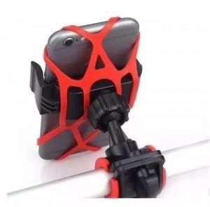 Suporte Celular GPS Motocicleta e  Bicicleta Com Rede Silicone