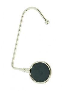 Porta bolsa giratório de metal com espelho fumê.