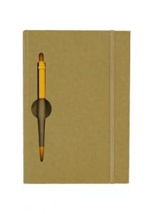 Bloco de anotações e caneta. *120 Folhas pautada, destacada.