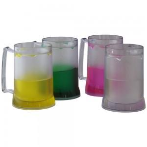 Caneca de 400 ml para Chopp, em acrílico transparente, com gel