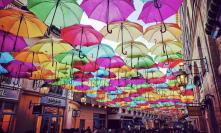 Guarda-chuva Coloridos Decoração de Ruas Eventos Festas