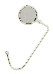 Porta bolsa giratório de metal com espelho claro