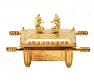 Arca da Aliança tamanho pequeno em zamac, banho latão