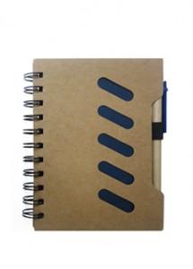 Bloco de anotações ecológico com caneta