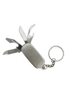 Chaveiro canivete com 4 funções, material de metal