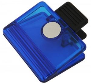 Porta lembrete com imã, em formato de prendedor, material em plástico.