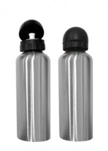 Squeeze em material inox, capacidade para 600 ml