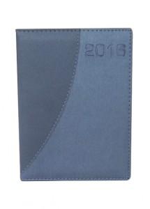 Agenda diária 2017 em couro sintético na cor azul