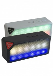 Caixa de som com bluetooth, leitor de cartão SD, entrada USB/AUX.