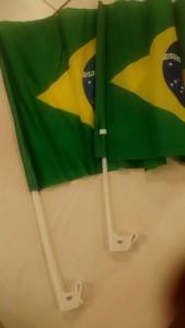 Bandeirinha Brasil Carro Copa Do Mundo 2018 Personalizada