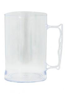 Caneca de aproximadamente 350 ml, em acrílico transparente