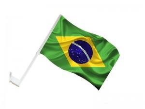 Bandeirinha Brasil Carro Copa Do Mundo 2018