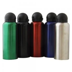 Squeeze de alumínio com tampa plástica de bico, capacidade para 500 ml. Embalagem, caixinha branca