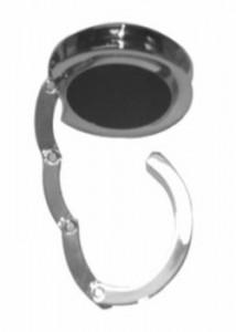 Porta bolsa de metal dobrável cromado