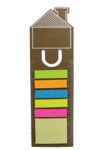 Régua Ecológica de 13 cm, com post-it