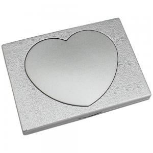 Espelho de bolso duplo, material em plástico resistente