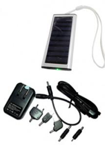 Carregador solar com cabo USB, material de plástico resistente