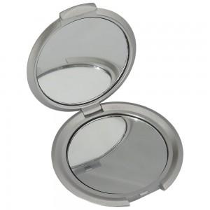 Espelho  bolso duplo com luz, material plástico resistente