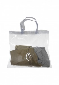 Bolsa em pvc, pode ser utilizada como sacola de praia