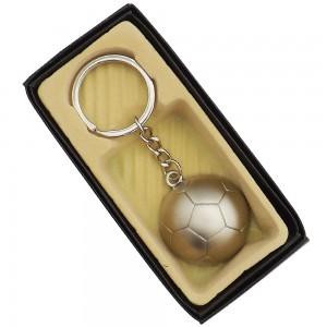 Chaveiro de metal, formato de bola cortada ao meio