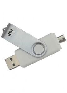 Pen Drive 4GB + Micro Usb p/ Smartphone