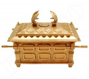 Arca da Aliança Tamanho Grande Em Plástico Dourada.